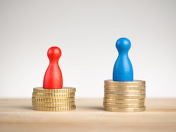 Wage gap concept for feminism 2